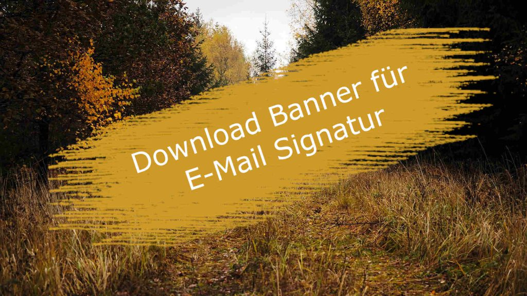 Download Banner für E-Mail Signatur