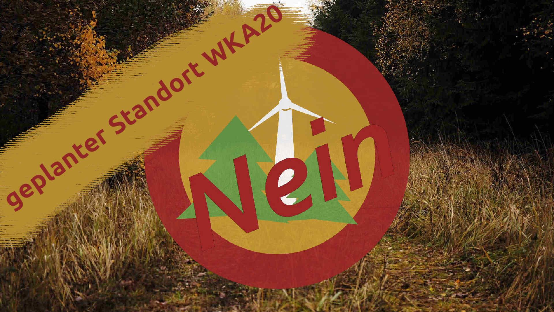 Windpark Reinhardswald – geplanter Standort der Windkraftanlage 20
