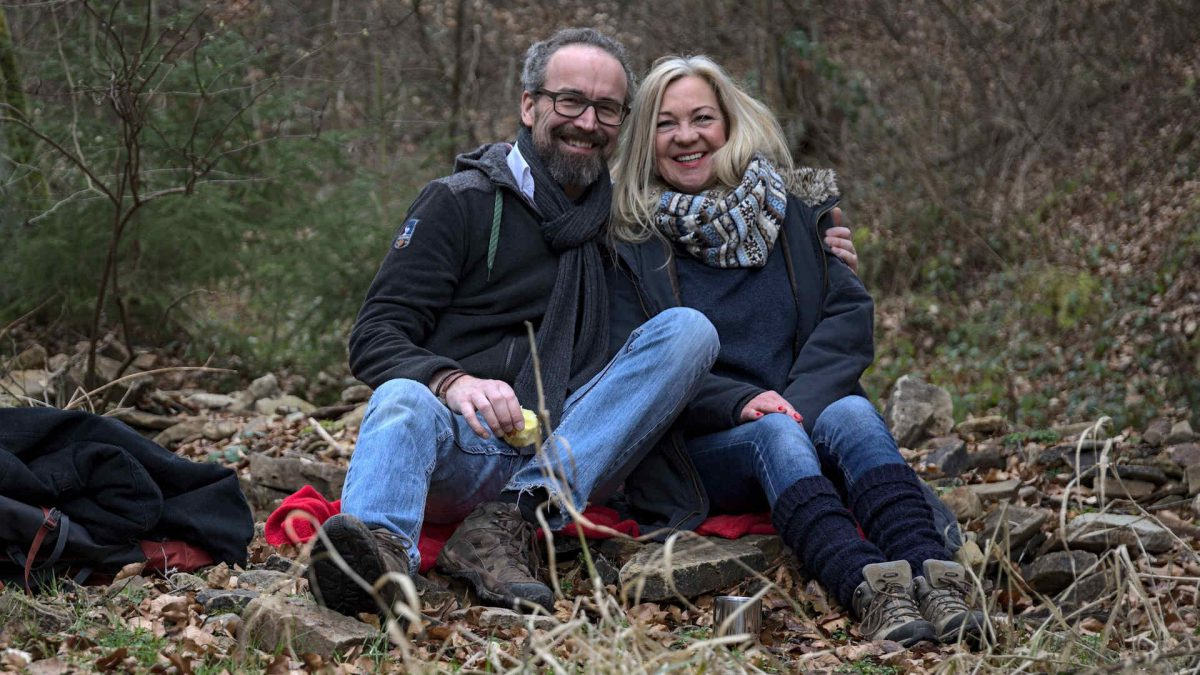 Sonja und Karsten im Reinhardswald