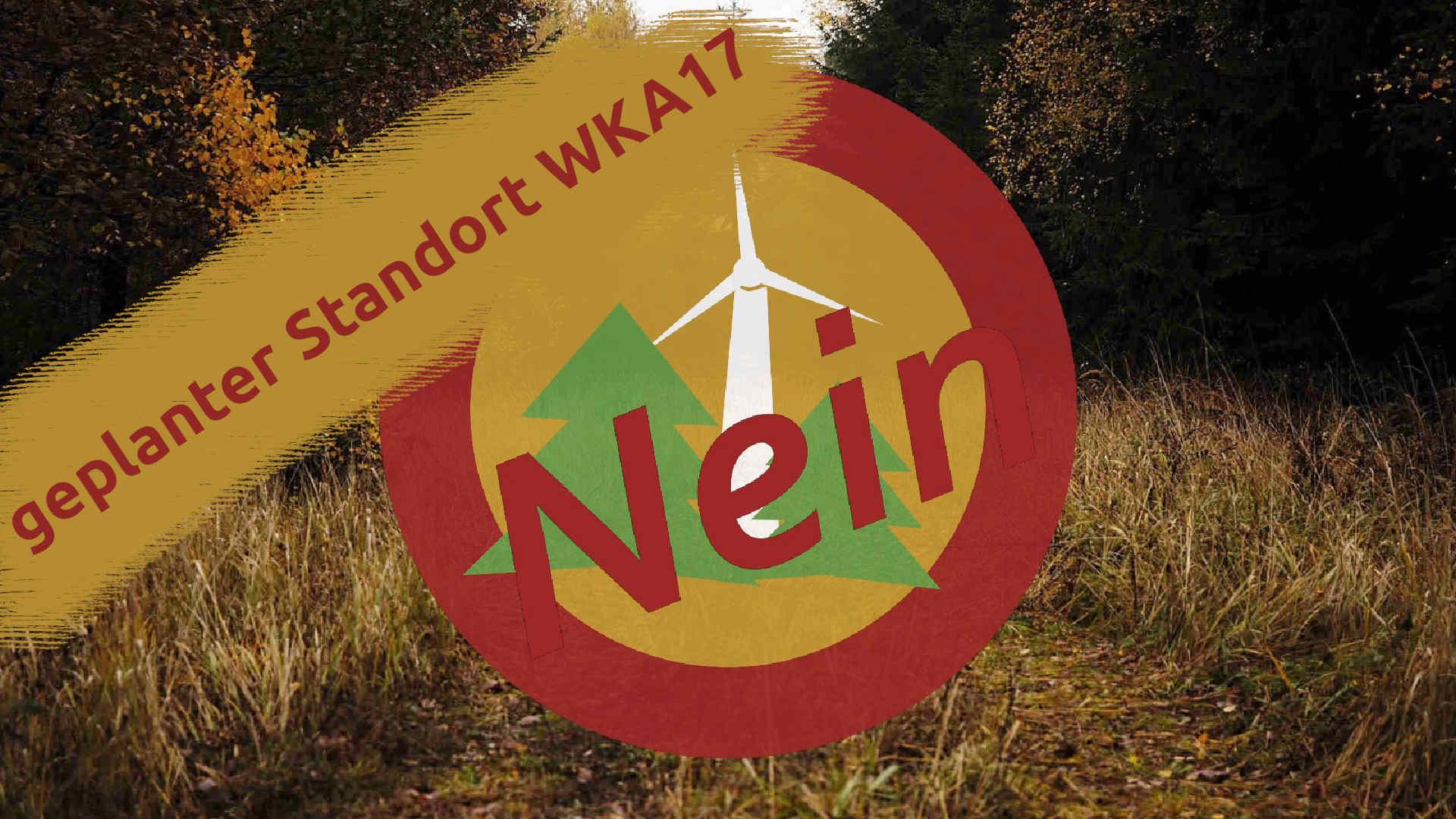 Windpark Reinhardswald – geplanter Standort der Windkraftanlage 17