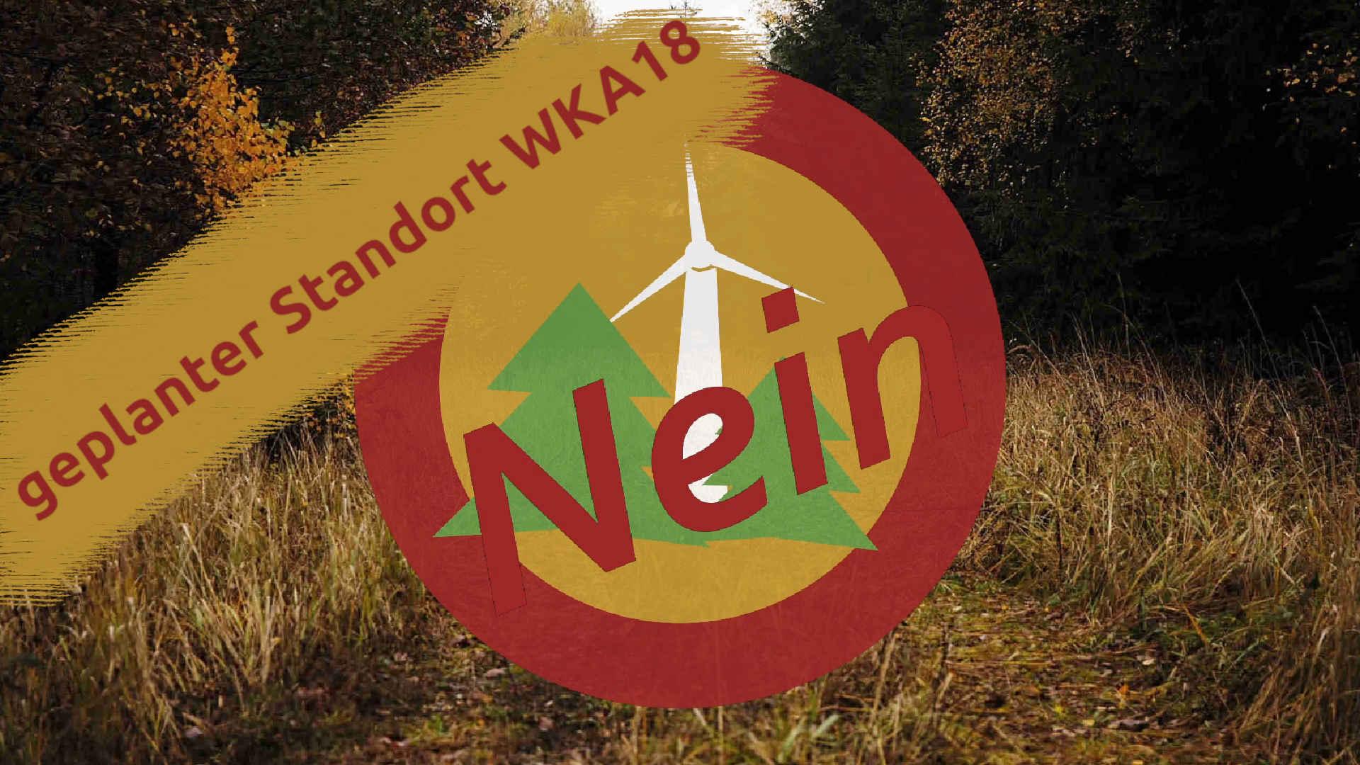 Windpark Reinhardswald – geplanter Standort der Windkraftanlage 18