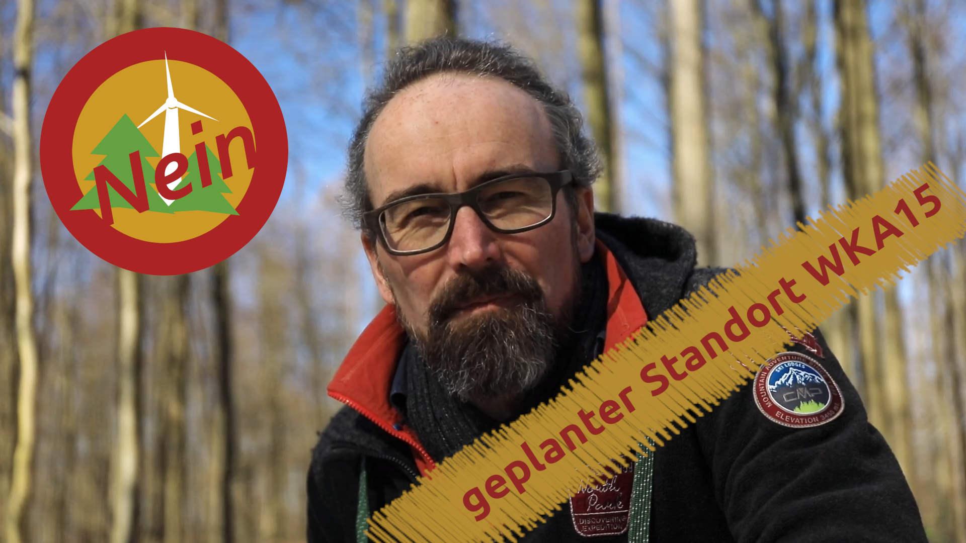 Windpark Reinhardswald – geplanter Standort der Windkraftanlage 15