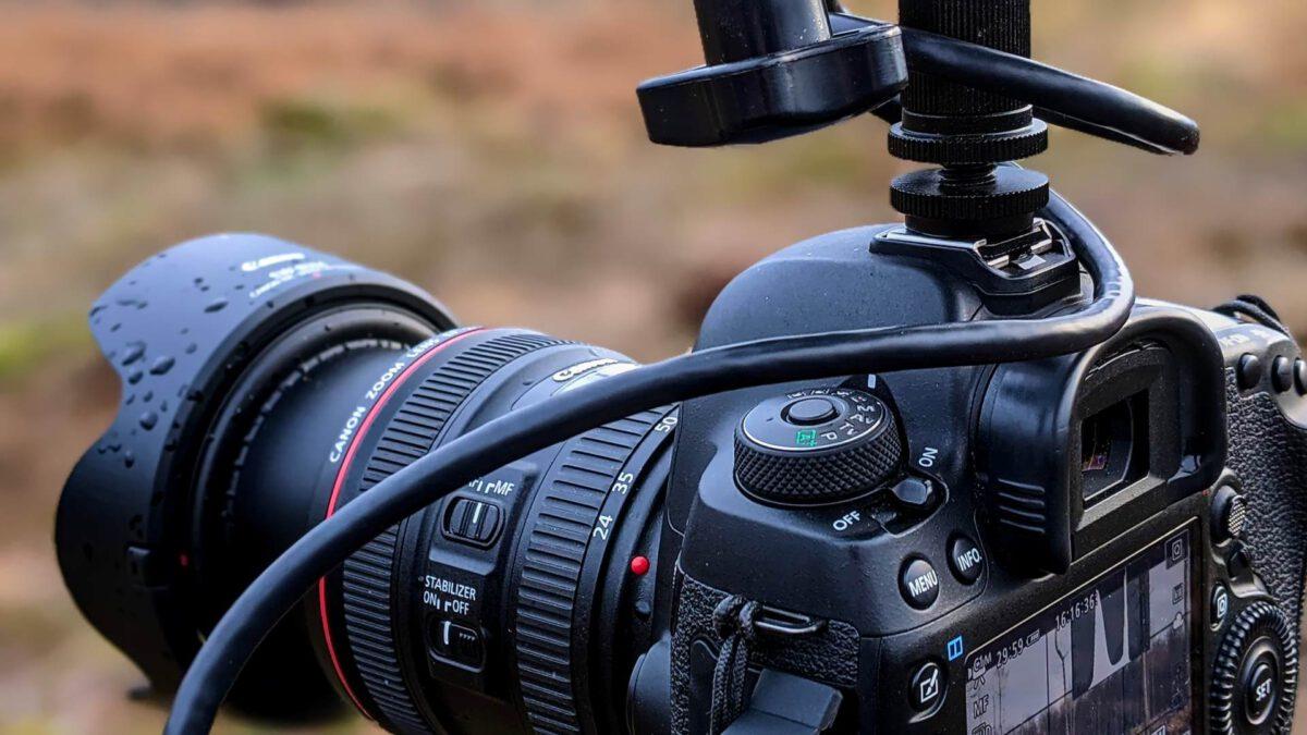 Kamera mit Regentropfen