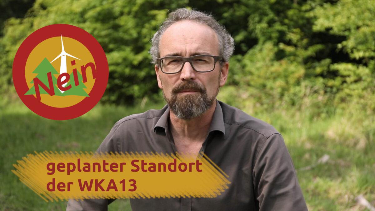 geplanter Standort WKA13