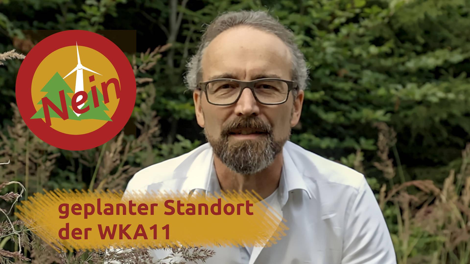 Windpark Reinhardswald – geplanter Standort der Windkraftanlage 11