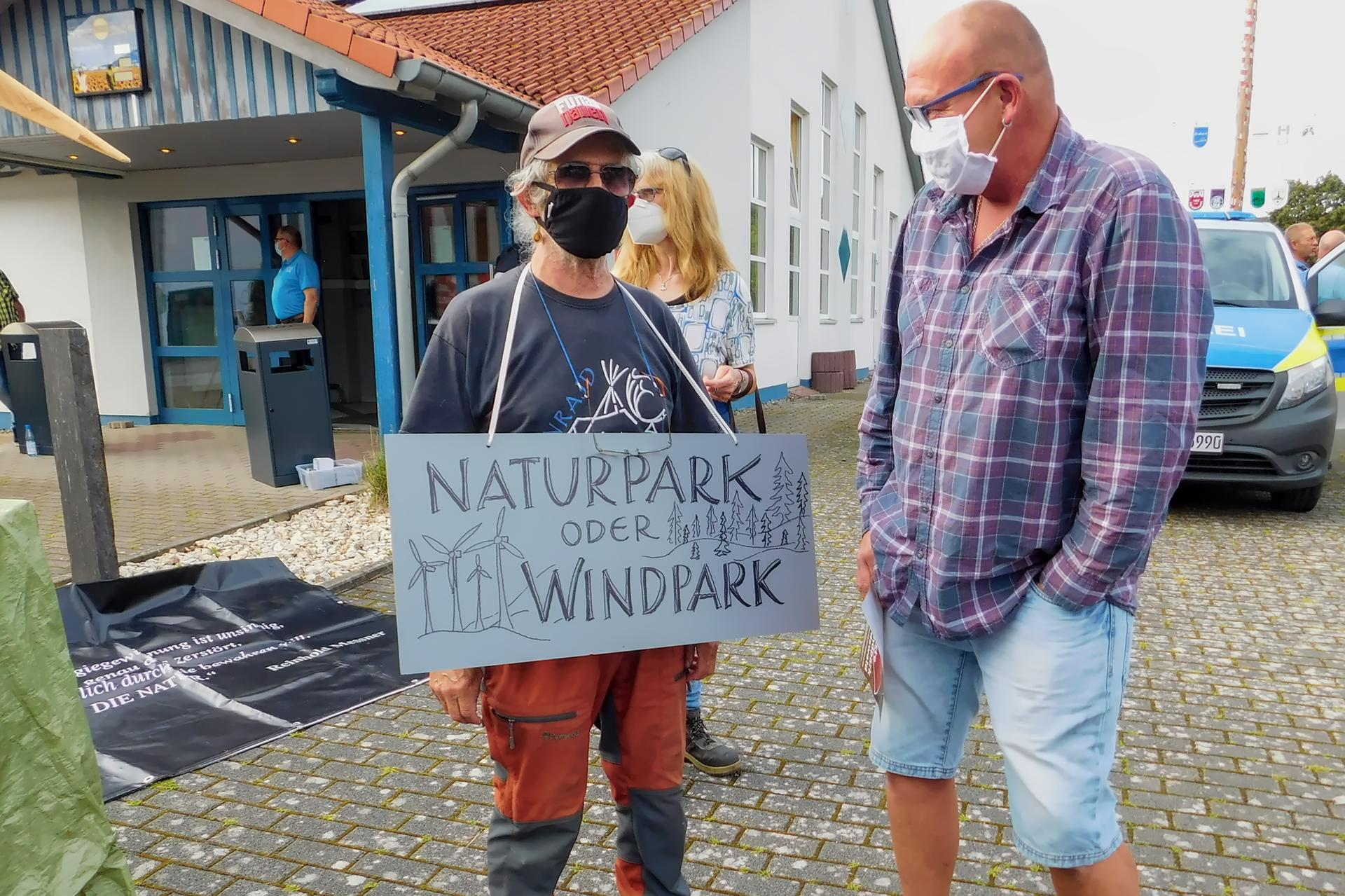 Naturpark oder Windpark