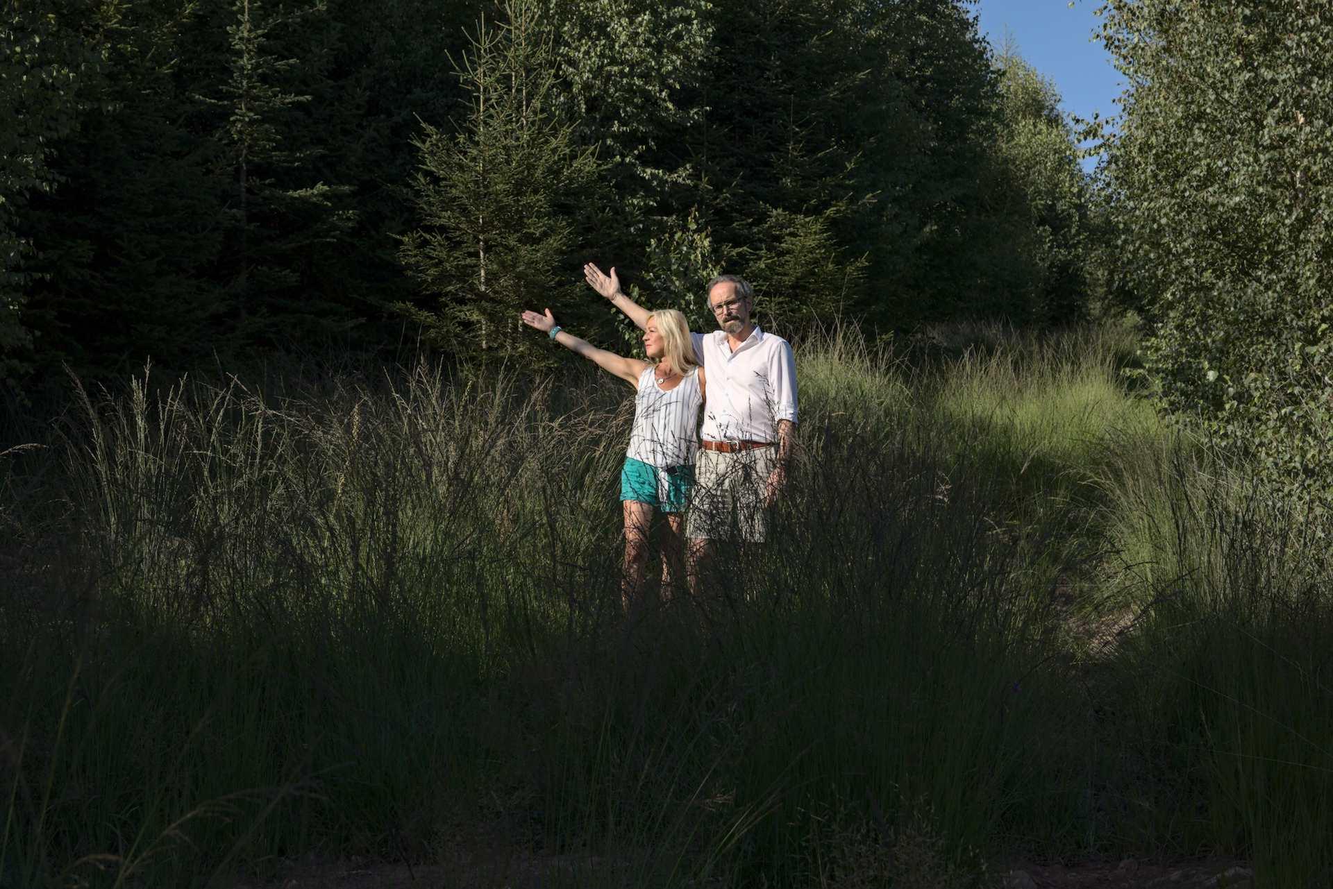 Sonja Erler und Karsten Leineke am Standort WKA 13