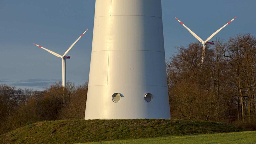 Mast Windkraftanlage Manrode