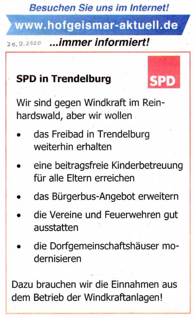 SPD Trendelburg am Tiefpunkt