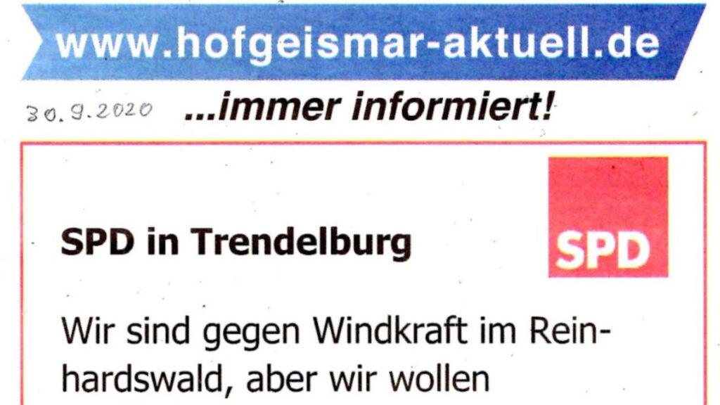 SPD Trendelburg am Tiefpunkt Titel