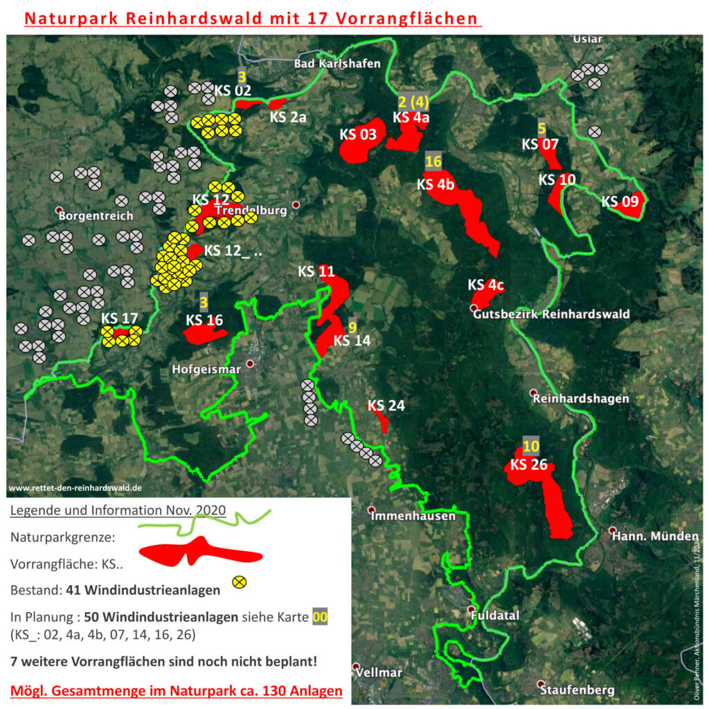 Grafik Naturpark Reinhardswald Windvorrangflächen