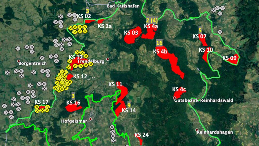 Titelbild Naturpark Reinhardswald Windvorrangflächen