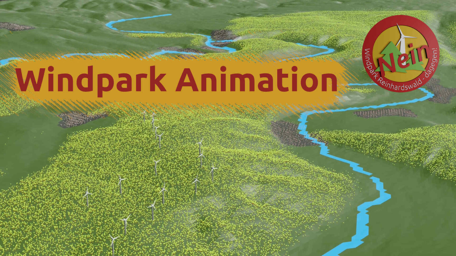 Animation Windpark Reinhardswald